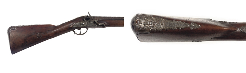 A FLINTLOCK SPORTING RIFLE