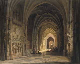 The interior of a cathedral
