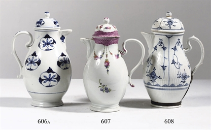 A Thüringen porcelain blue and