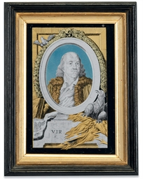 A DUTCH VERRE EGLOMISE PORTRAI