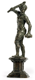 A BRONZE FIGURE OF A WILDMAN