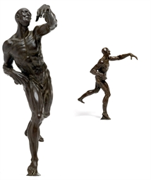 A BRONZE MODEL OF A MALE ÉCORC
