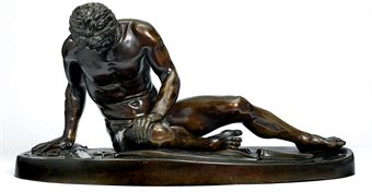 A BRONZE FIGURE OF THE DYING GAUL
