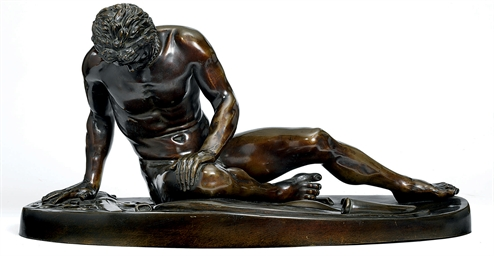 A BRONZE FIGURE OF THE DYING G