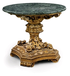A SOUTH ITALIAN GILTWOOD CENTR