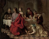 Mary Magdalene washing the feet of Christ in the house of Simon