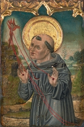 Saint Francis of Assisi receiv