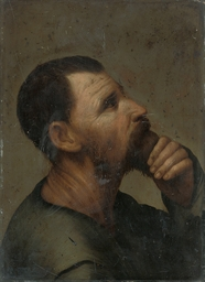 Head study of a man in profile