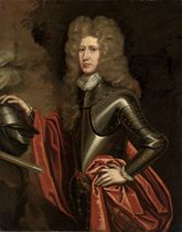 Portrait of William Keith, 9th Earl Marischal (c.1664-1712), half-length, in armour, his right hand resting on a helmet