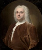 Portrait of a gentleman, traditionally identified as Simon Kerrich (1697-1748), half-length, in a brown velvet coat and waistcoat, in a feigned oval