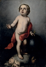 The Infant Christ holding an o