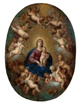 The Virgin and Christ Child attended by putti