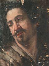 Head study of a man, a fragment