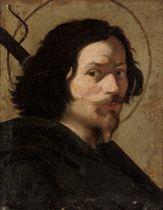 Portrait of the artist, bust-length, as Saint James the Great