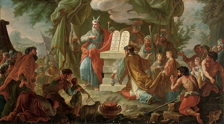 Moses on Sinai with the Tablet