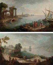 A capriccio of a Mediterranean