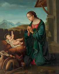 The Madonna and Child in a lan