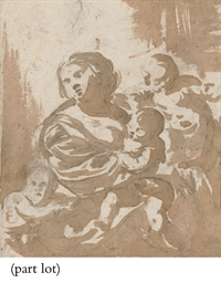 Allegory of Charity; and Putti