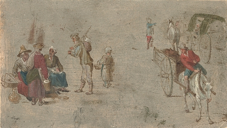 Peasants gathered at a market