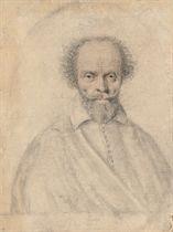 Portrait of a bearded man wearing a cloak