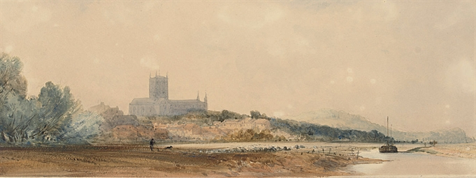 Tewkesbury Abbey from Severn H