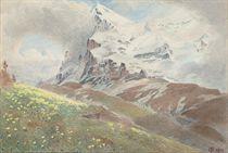 The Eiger from the Wengern Alp, Switzerland