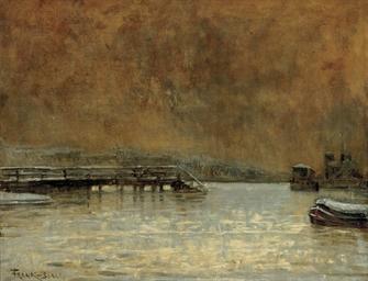 Vue de la Seine sous la neige