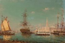 Vessels moored before the Doge's Palace