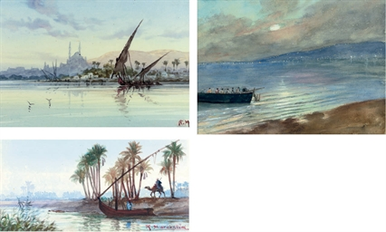 On the Nile; A felucca before