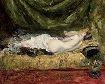 La desnuda inclinada
