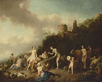 A pastoral landscape with Diana and her Nymphs