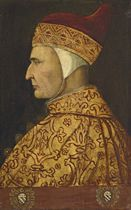 Portrait of Doge Cristoforo Moro (1390-1471), bust-length, in profile