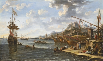 A Mediterranean harbour with T