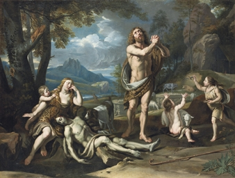 Adam and Eve lamenting the Dea
