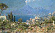The Bay of Naples, Vesuvius beyond.