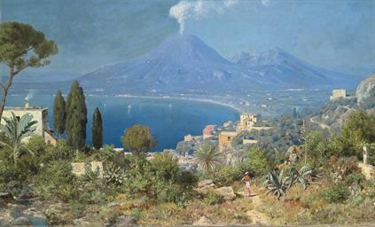 The Bay of Naples, Vesuvius be