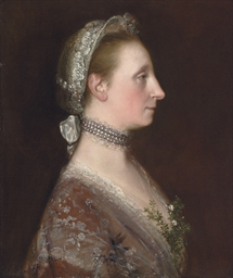 Portrait of a lady, possibly M