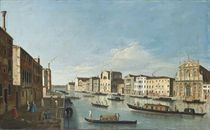 The Grand Canal, Venice, with the Churches of the Scalzi and Santa Lucia, and the Palazzi Bragadin and Barzizza