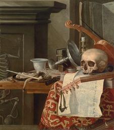 Vanitas: A skull, a violin, an