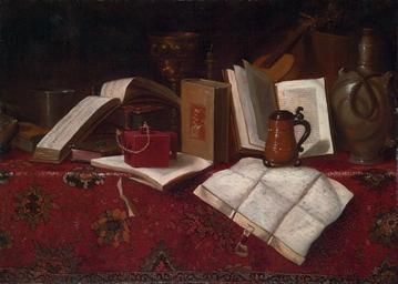 Books, a silver beaker, a gilt