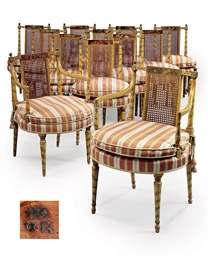 A SET OF TWELVE GEORGE III CRE