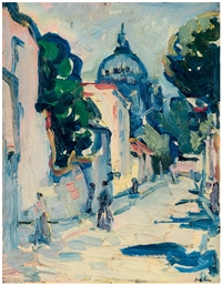 Figures in a Street, Montmartr