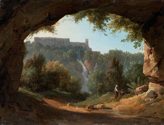 Tivoli from a grotto