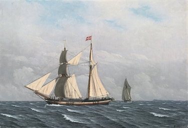 A Sailing Boat in full sail