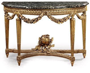 A LOUIS XVI GILTWOOD CONSOLE T
