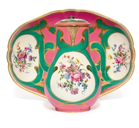 A SEVRES SILVER-MOUNTED PINK A