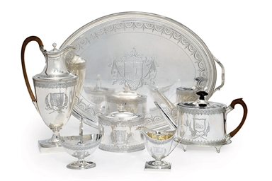 A GEORGE III SILVER SIX-PIECE