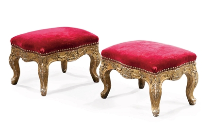 A PAIR OF ITALIAN GILTWOOD FOO