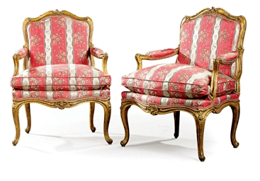 A PAIR OF LOUIS XV GILWOOD FAU