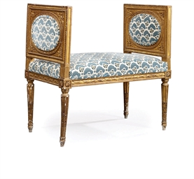 A FRENCH GILTWOOD BANQUETTE